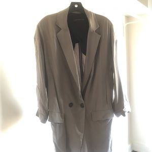 Zara Gray oversized deconstructed soft blazer